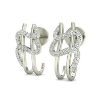 Diamond Earrings 0.25 ct Natural Certified Solid Gold Beautiful Studs
