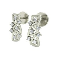 Gold Diamond Earrings 0.21 ct Anniversary Wedding Studs