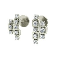 Diamond Earrings for Women 0.24 ct Natural Certified Solid Gold Studs
