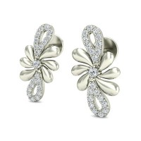 Diamond Drop Earrings 0.23 ct Natural Certified Solid Gold Studs