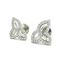 Diamond Studs 0.39 ct Natural Certified Solid Gold Earrings