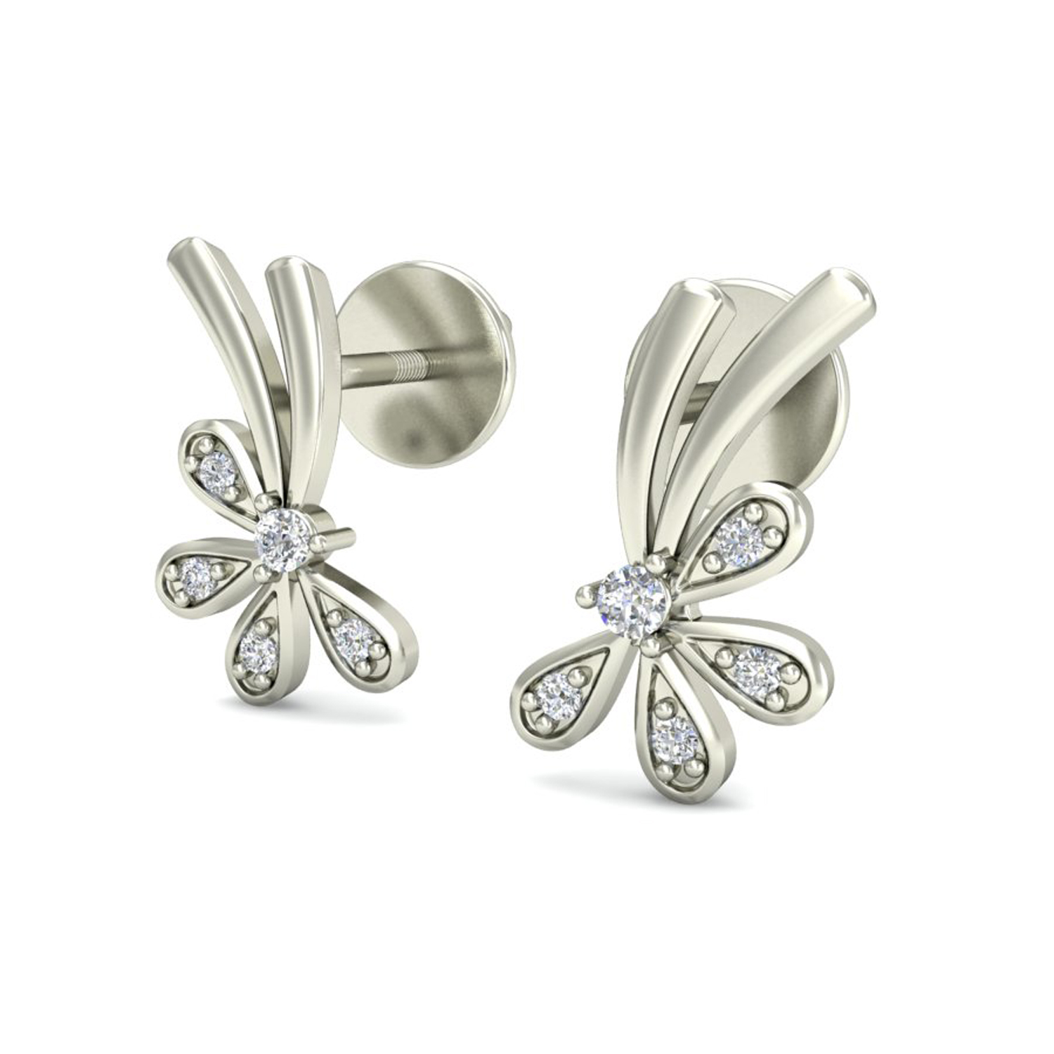 Diamond Earrings Studs 0 07 Ct Natural Certified Solid Gold Gift For Her