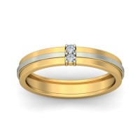 Real Certified Diamond 0.05 ct Gold Mens Ring