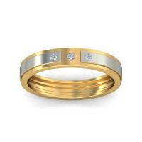 Real Certified Diamond 0.02 ct Gold Mens Ring