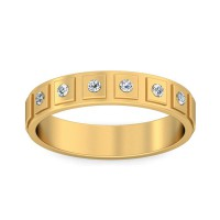 Real Certified Diamond 0.15 ct Gold Mens Ring