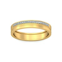 Real Certified Diamond 0.14 ct Gold Mens Ring