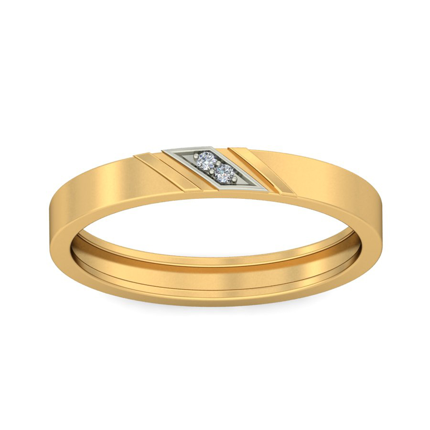 Buy Real Certified Diamond 0 01 Ct Gold Mens Ring Jewelsqueen