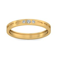Real Certified Diamond 0.025 ct Gold Mens Ring