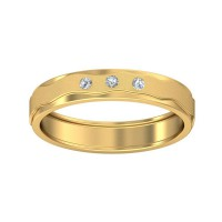 Real Certified Diamond 0.075 ct Gold Mens Ring