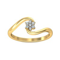 Diamond Ring For Sale 0.35 Carat Natural Certified Diamond Yellow / White Gold