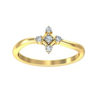 Diamond Ring For Sale 0.10 Carat Natural Certified Diamond Yellow / White Gold