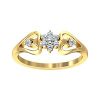 Gold Ring for Women 0.22 Carat Natural Certified Diamond Yellow / White Gold