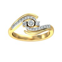 Gold and Diamond Rings 0.2 Carat Natural Certified Diamond Yellow / White Gold