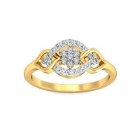 Diamond Ring For Sale 0.21 Carat Natural Certified Diamond Yellow / White Gold