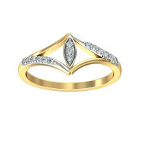 Diamond Ring 0.09 Carat Natural Certified Diamond Yellow / White Gold
