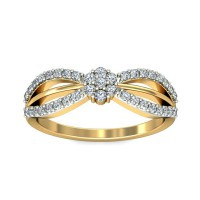 Diamond Ring 0.29 Carat Natural Certified Diamond Yellow / White Gold