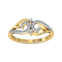 Diamond Ring For Sale 0.17 Carat Natural Certified Diamond Yellow / White Gold