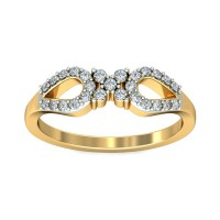 Ring For Sale 0.2 Carat Natural Certified Diamond Yellow / White Gold