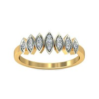 Diamond Ring 0.08 Carat Natural Certified Diamond Yellow / White Gold