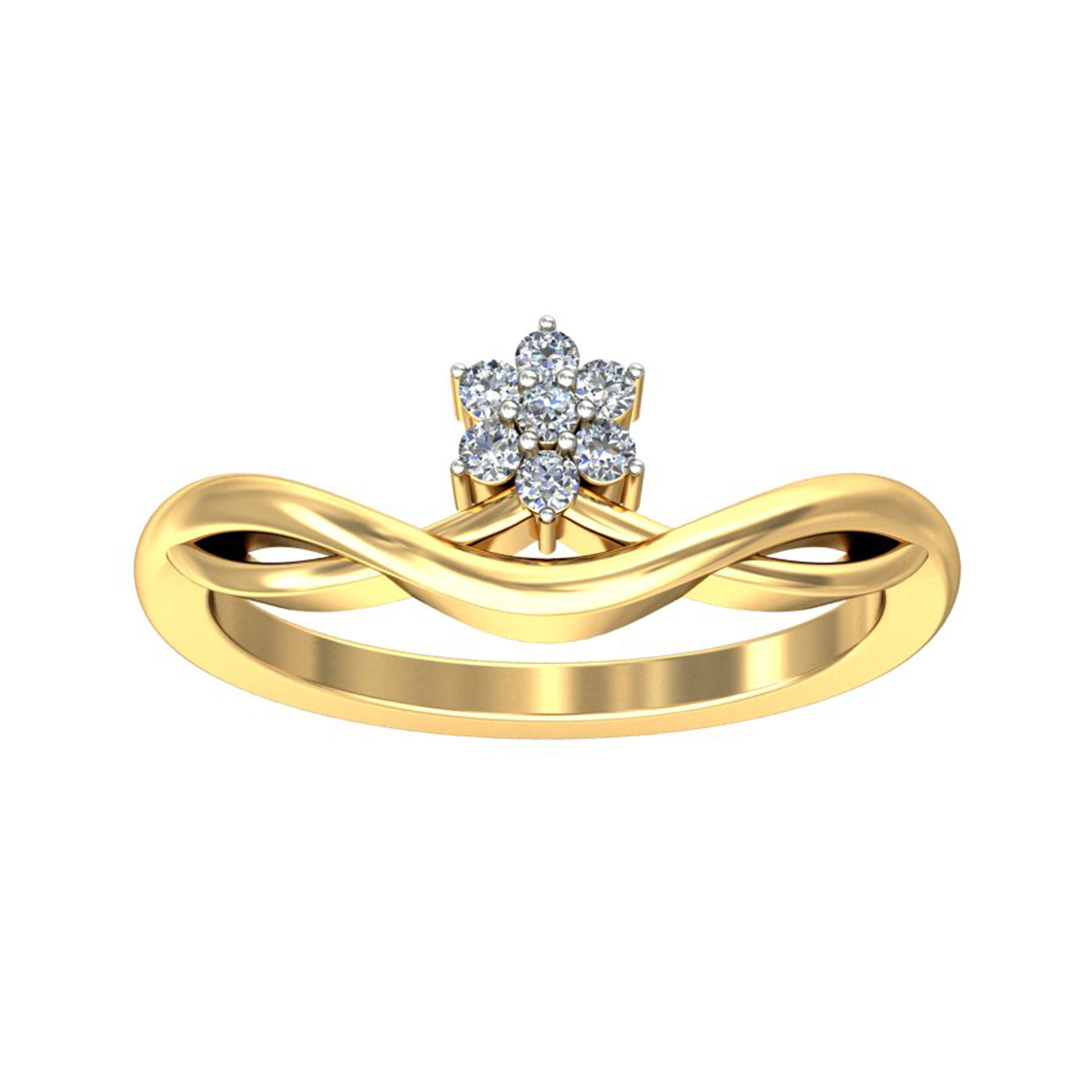 Diamond Ring Design 0 1 ct Certified Diamond Yellow White Gold