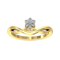 Diamond Ring Design 0.1 Carat Natural Certified Diamond Yellow / White Gold