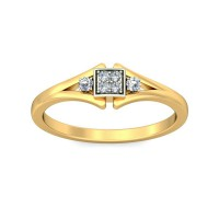 Gold And Diamond Rings 0.05 Carat Natural Certified Diamond Yellow / White Gold