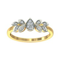 Diamond Ring For Sale 0.09 Carat Natural Certified Diamond Yellow / White Gold