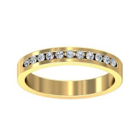 Gold Diamond Rings 0.16 Carat Natural Certified Diamond Yellow / White Gold