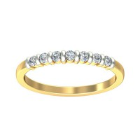 Diamond Ring Design 0.21 Carat Natural Certified Diamond Yellow / White Gold
