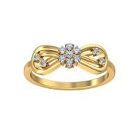 Diamond Ring For Women 0.16 Carat Natural Certified Diamond Yellow / White Gold