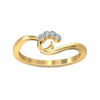 Diamond Ring For Sale 0.06Carat Natural Certified Diamond Yellow / White Gold