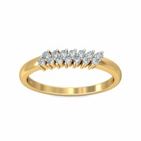 Gold And Diamond Rings 0.21Carat Natural Certified Diamond Yellow / White Gold