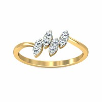 Diamond Ring For Sale 0.2Carat Natural Certified Diamond Yellow / White Gold
