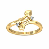 Diamond Ring For Women 0.05Carat Natural Certified Diamond Yellow / White Gold