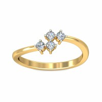 Diamond Ring Price 0.12Carat Natural Certified Diamond Yellow / White Gold