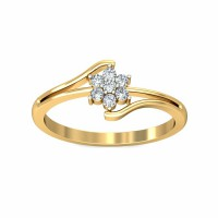 Diamond Ring For Sale 0.12Carat Natural Certified Diamond Yellow / White Gold