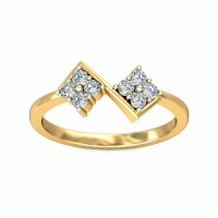 Diamond Ring Designes 0.2Carat Natural Certified Diamond Yellow / White Gold