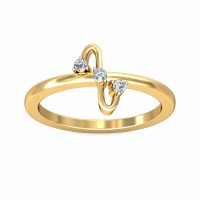 Gold Ring for Women 0.05Carat Natural Certified Diamond Yellow / White Gold