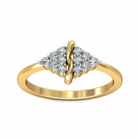 Diamond Ring Design 0.18Carat Natural Certified Diamond Yellow / White Gold