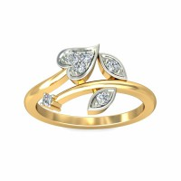Diamond Ring For Sale 0.14Carat Natural Certified Diamond Yellow / White Gold