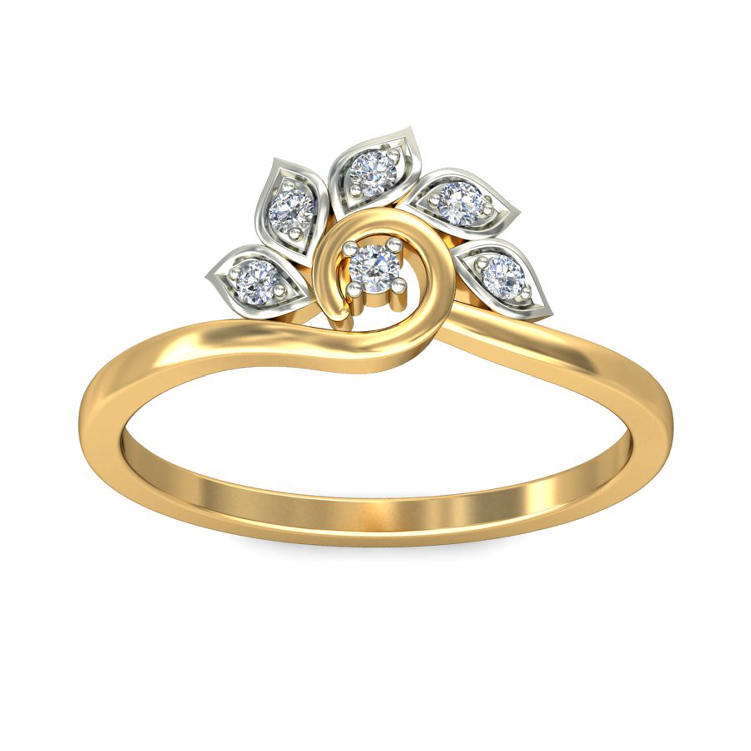 ring price 0 06ct certified yellow white