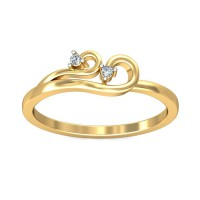 Diamond Rings 0.03Carat Natural Certified Diamond Yellow / White Gold