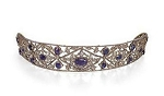 Bridal Headpieces 10.35 Ct Natural Certified Diamond Amethyst Sterling Silver Queen Crown