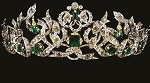 Tiara And Crown 6.85 Ct Natural Certified Diamond Emerald Sterling Silver Bridal Headpieces
