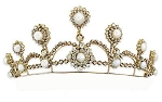 Brithday Tiara 8.25 Ct Natural Certified Diamond Pearl Sterling Silver Hair Accessories