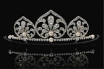 Wedding Tiaras 11.15 Ct Natural Certified Diamond Pearl Sterling Silver Queen Crown