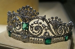 Tiaras And Crowns 15.42 Ct Natural Certified Diamond Emerald Sterling Silver Diamond Crown