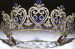 Head Pieces 15.75 Ct Natural Certified Diamond Sterling Silver Headband
