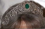 Princess Tiara And Crown 15.7 Ct Natural Certified Diamond Emerald Sterling Silver Headband