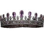 Tiara Online 15.6 Ct Natural Certified Diamond Amethyst Sterling Silver Bridal Hair Accessories
